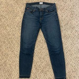 Hudson ankle fray jeans